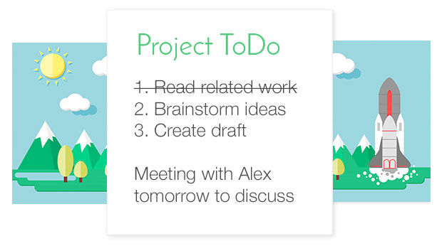 using dictanote to create a project todo